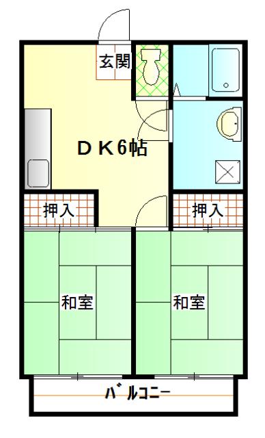ガーベラマンション汐入 303号室の間取り
