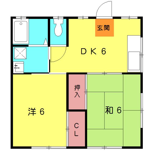 瀬戸アパート 2-2号室の間取り