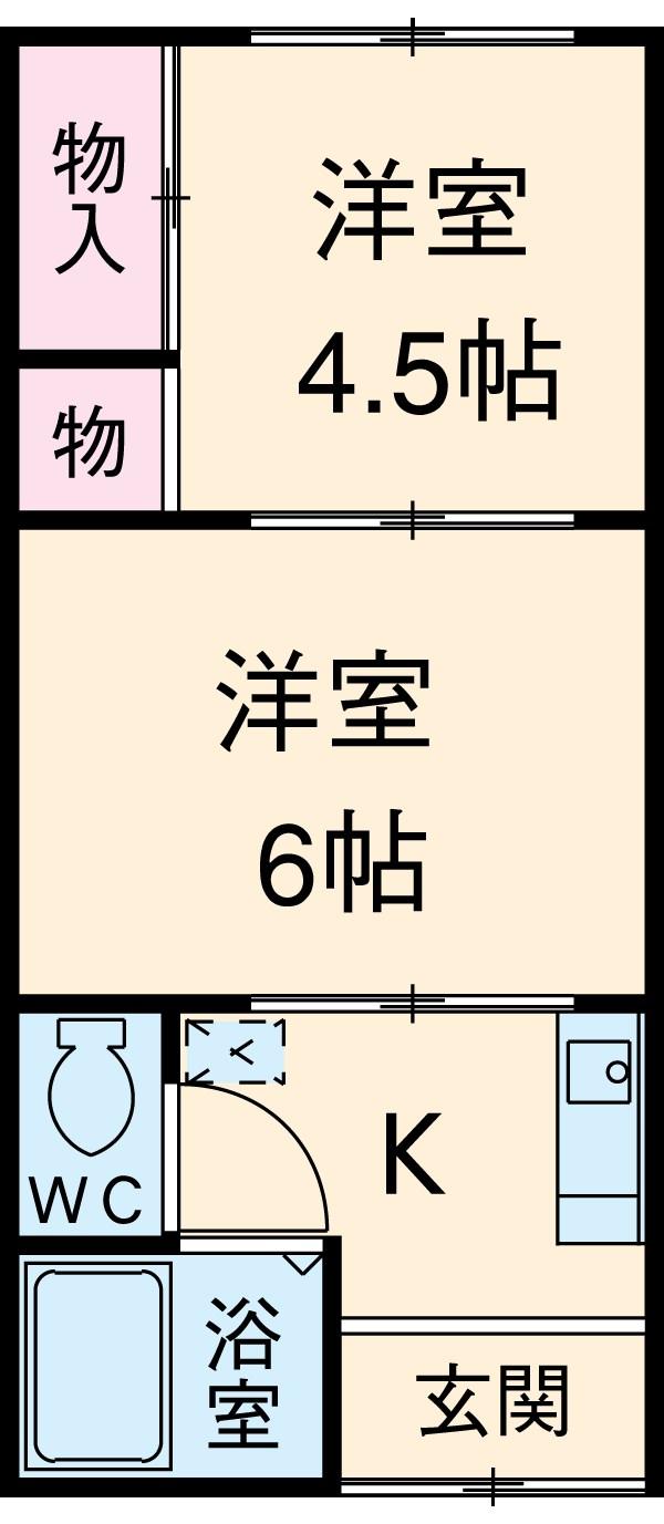 グレーシア横須賀中央 103号室の間取り