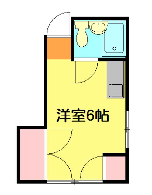 滝田荘 202号室の間取り