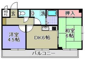 ハシバパビヨン・304号室の間取り