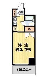 コスモ亀有 Ⅴ・1105号室の間取り