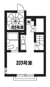 ビラ・リバーサイド多摩川 203号室の間取り