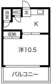 和幸荘 1号室の間取り