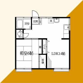 葉山アパートメント038・201号室の間取り