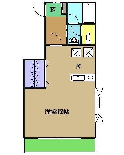 ラピス大倉山7・101号室の間取り