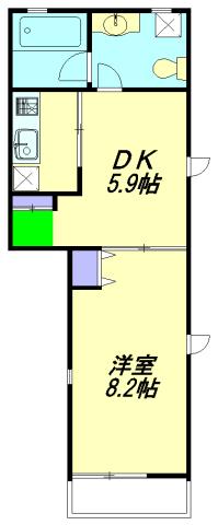 シャトルOOKURAYAMA・110号室の間取り