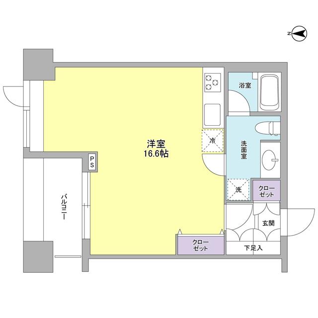 エルフレア駒沢・0602号室の間取り