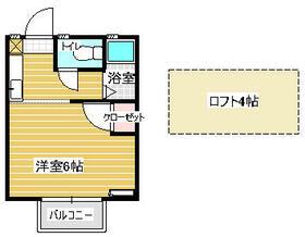 エトワール松崎・203号室の間取り
