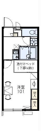 レオパレスFukufuku 103号室の間取り