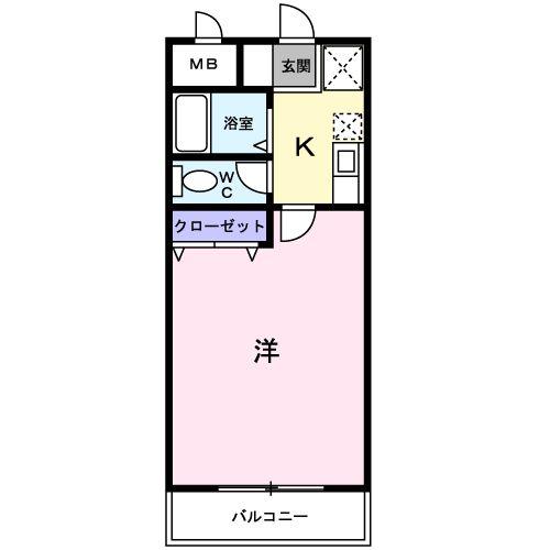 コンフォ-ト富士Ⅲ・01030号室の間取り