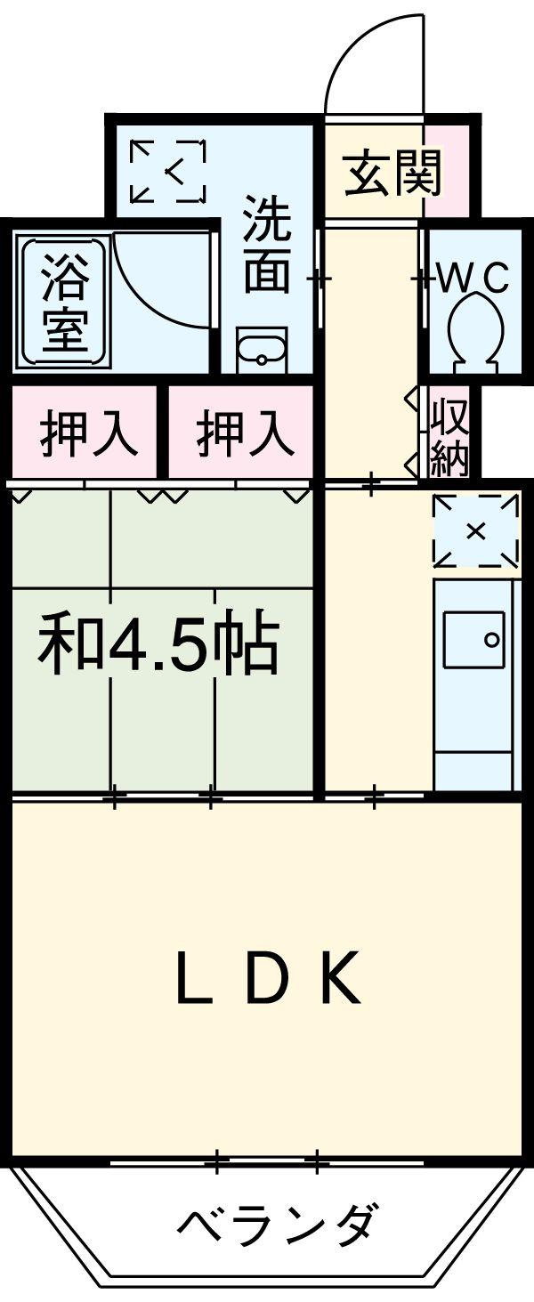 旭屋 302号室の間取り