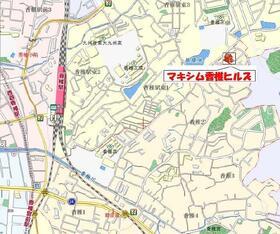 マキシム香椎ヒルズ 103号室の地図
