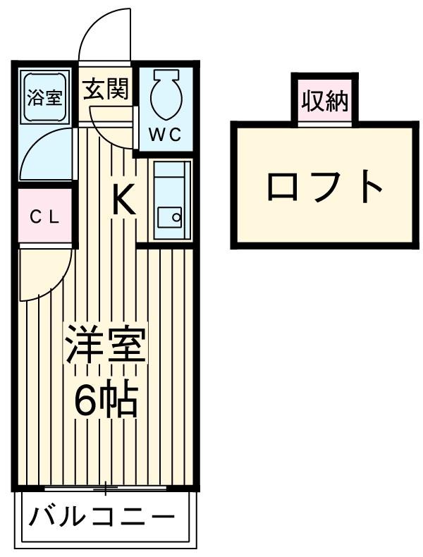 ウイング筥松 A101号室の間取り