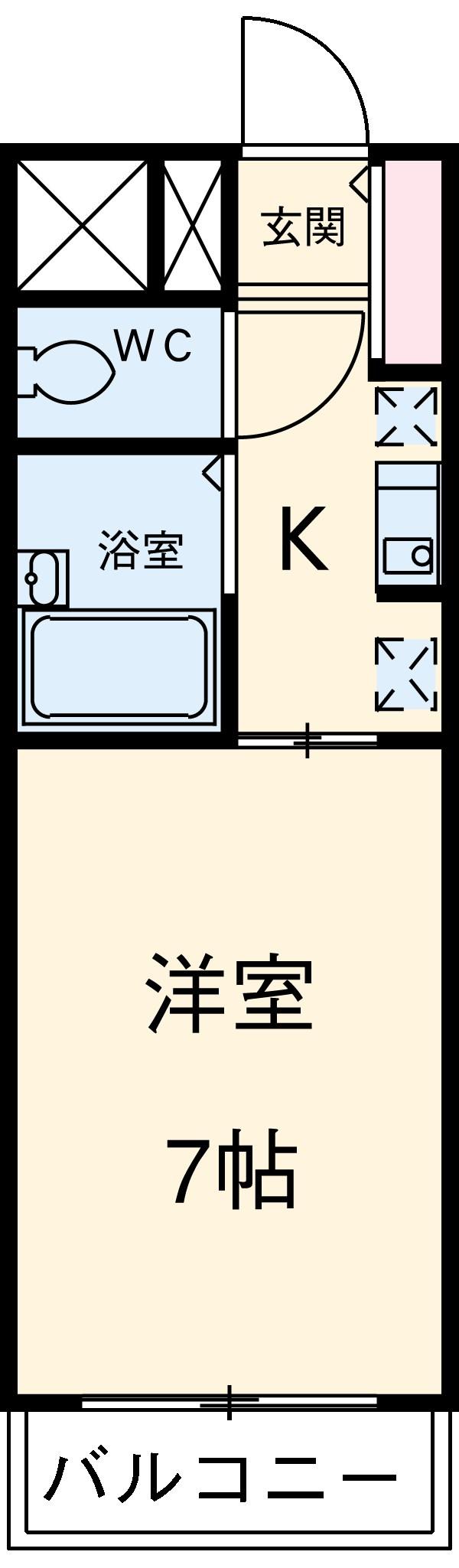スプリングイセヤマ 603号室の間取り
