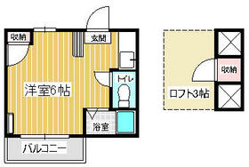 セーヌ千早Ⅱ・202号室の間取り