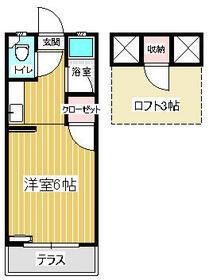 セーヌ松崎・208号室の間取り