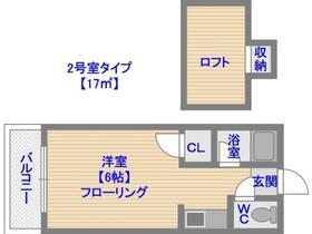 ウイング筥松B棟・0205号室の間取り