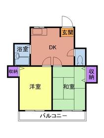 PLEAST田島Ⅱ 302号室の間取り