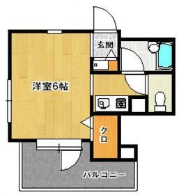 ドミエスポワール南福岡・202号室の間取り