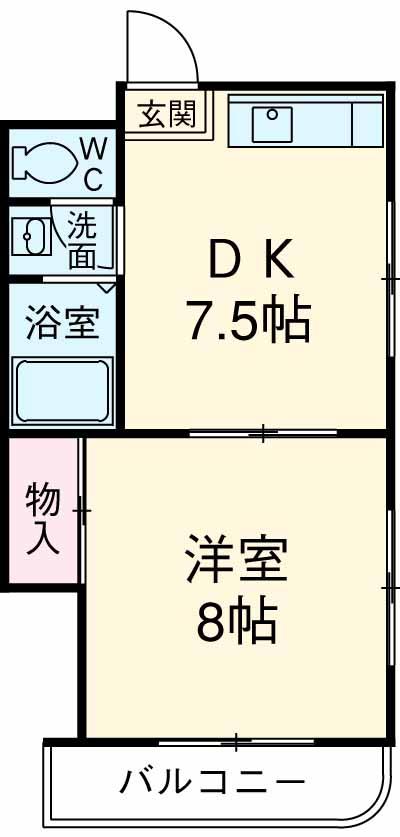 ケラソス奥田・303号室の間取り