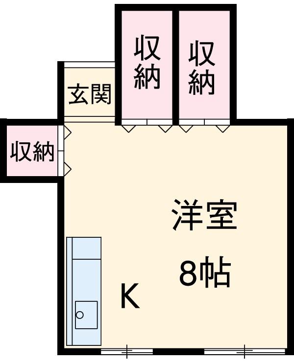 酢田荘 3号室の間取り