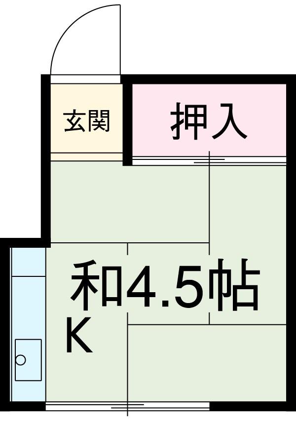 酢田荘 7号室の間取り
