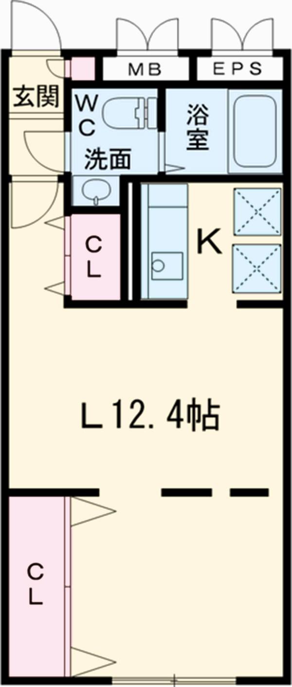 ZESTY駒澤大学Ⅱ・405号室の間取り