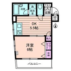 ダイホープラザ桜台 0402号室の間取り