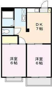 カーサ鈴木II・102号室の間取り