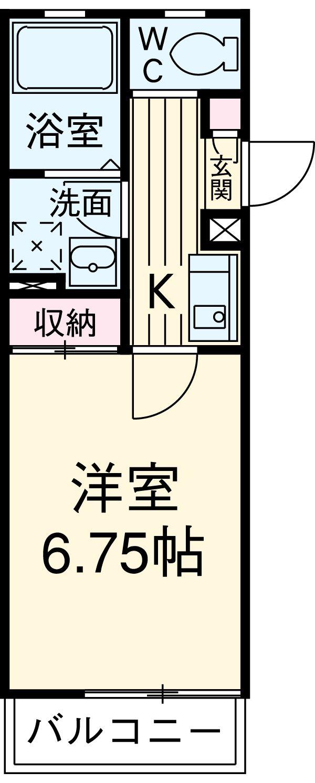 ケイズパレス綾瀬・301号室の間取り