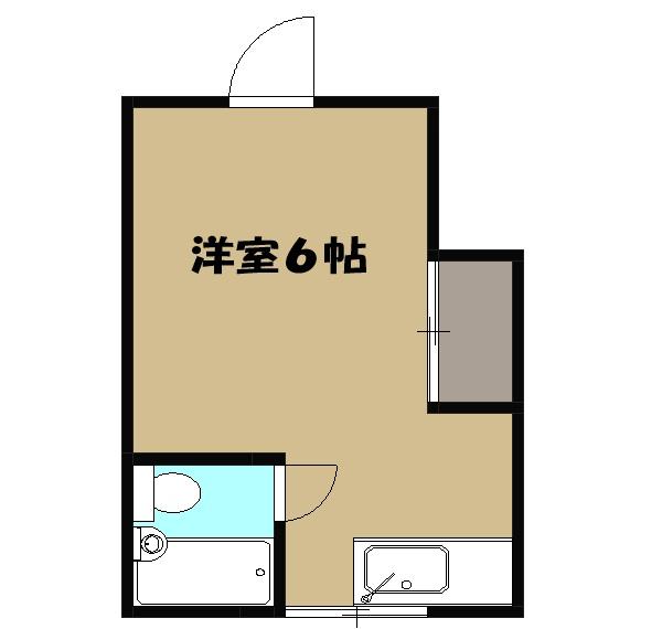 ミユキハイツ・203号室の間取り