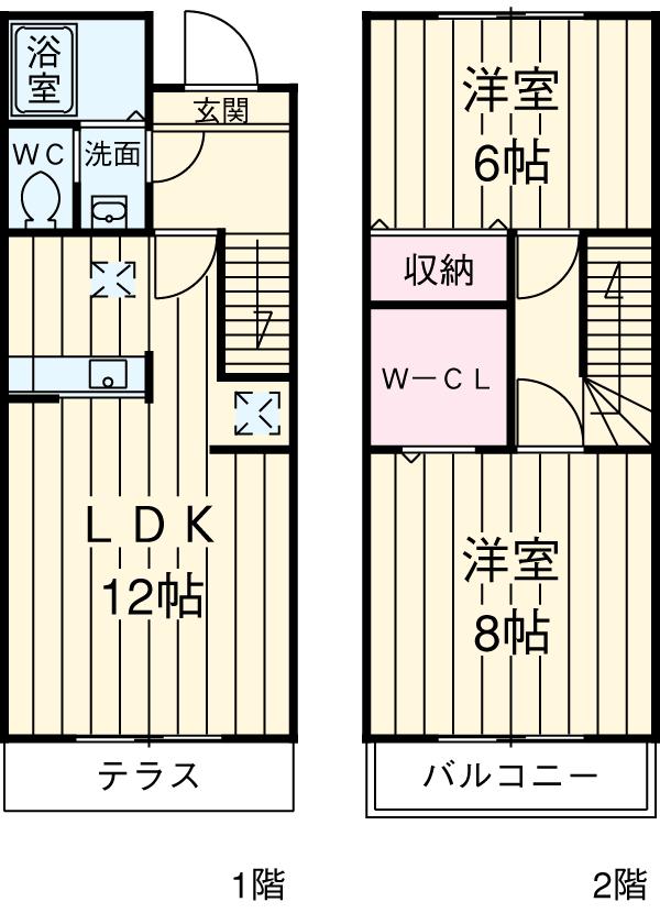ソシアハイツA・101号室の間取り