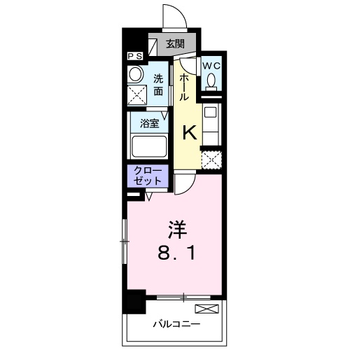 グレース東淀川・03080号室の間取り