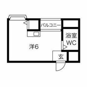 プレアール井高野・205号室の間取り