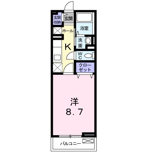 メゾンドシャンテール 02030号室の間取り