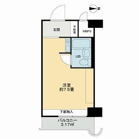 ライオンズマンション新大阪第5・1110号室の間取り