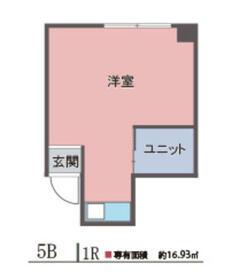 吉恵ハイツ・5B号室の間取り