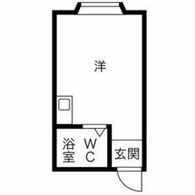 プレアール塚本Ⅶ・405号室の間取り