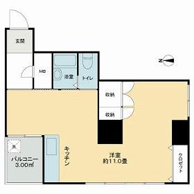 大京ビルマンション新大阪・701号室の間取り