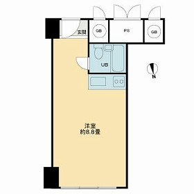 新大阪コーポビアネーズ・1026号室の間取り
