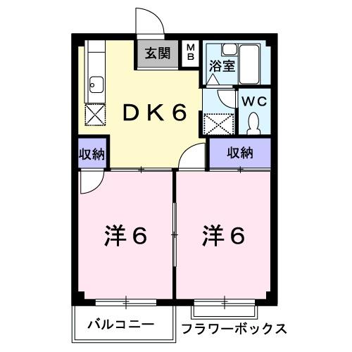 エルディム笹島・02050号室の間取り