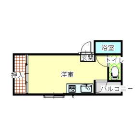 袴塚マンション・402号室の間取り