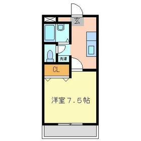 美野里第2中央ビル・105号室の間取り