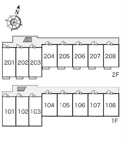 レオパレスシェドゥーブル 103号室の景色