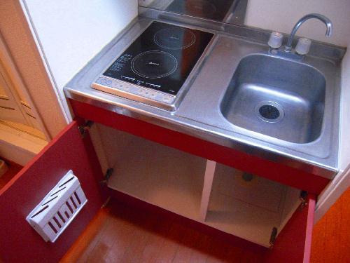 レオパレスエバーグリーン 201号室のキッチン
