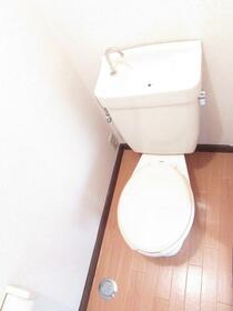 サンラインコーポ B-7号室のトイレ
