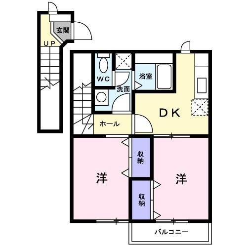 エスポアール 02010号室間取り図