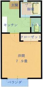 Kアパートメント 205号室の間取り