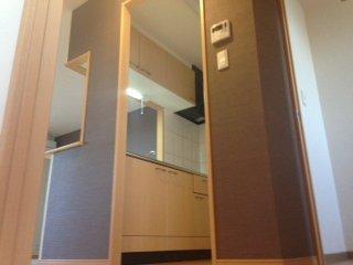 エバーハイム 205号室のキッチン